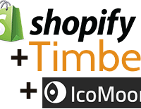 Shopify, Timber, and IcoMoon Icons